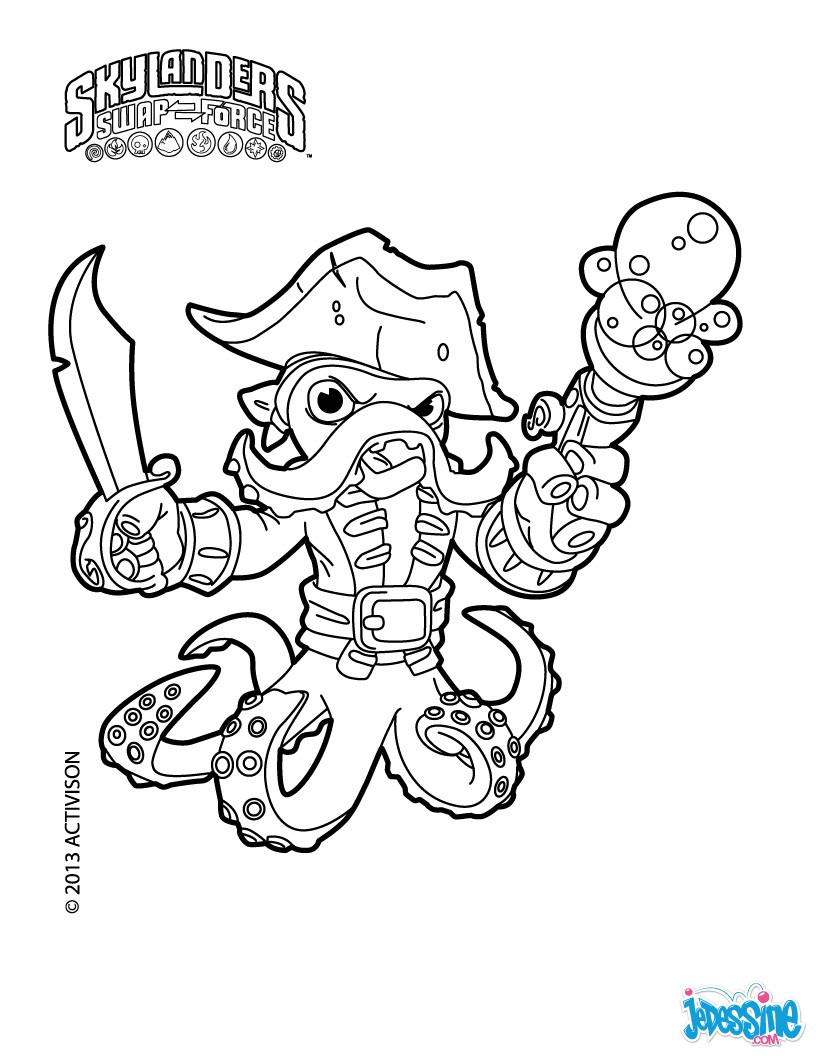 Coloriage Skylander : Wash Buckler