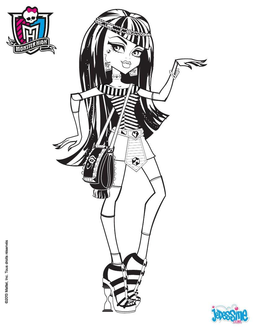 Monster High Ausmalbilder Cleo De Nile : Monster High Coloring Pages Cleo De Nile And Deuce