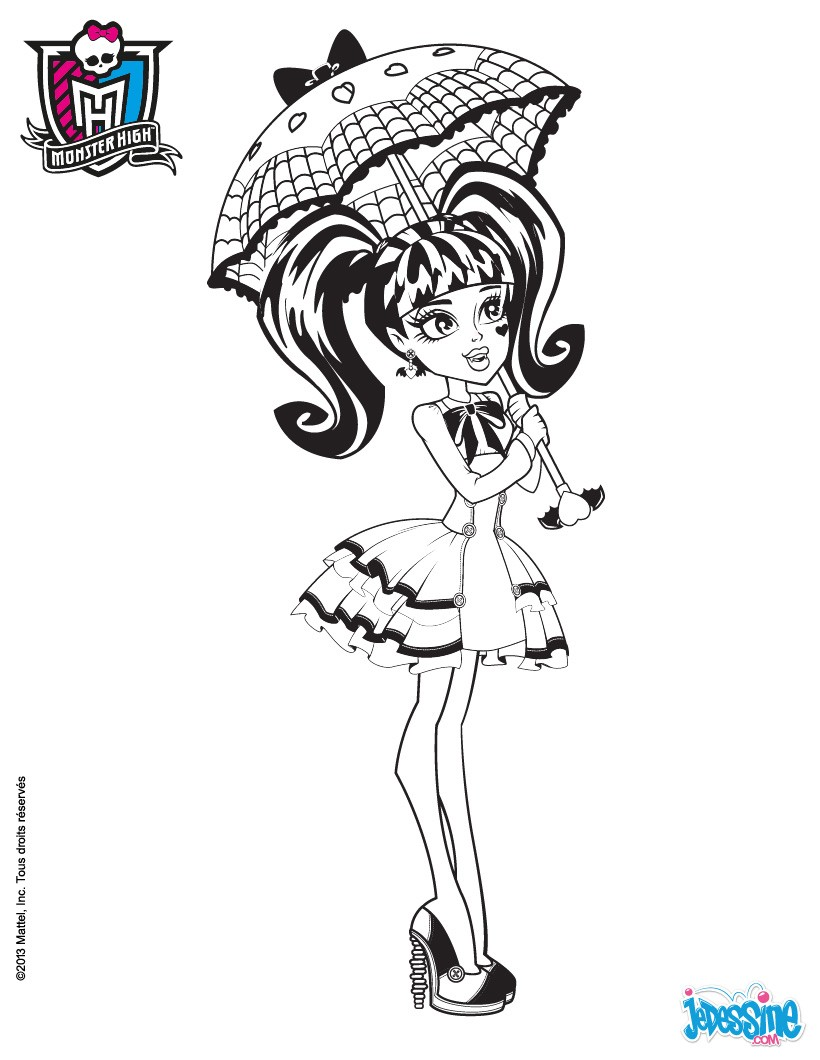 Coloriages draculaura colorier - Coloriage de monster ...