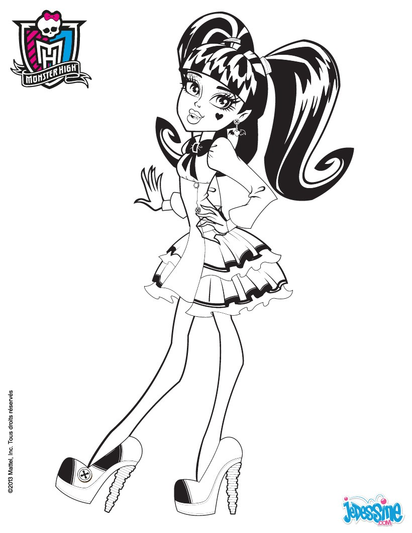 Coloriages draculaura imprimer - Dessins de monster high ...