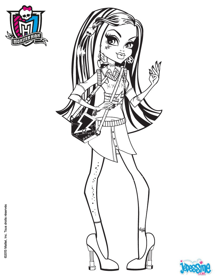 Coloriages frankie stein imprimer - Dessins de monster high ...