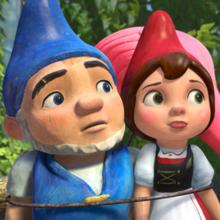 Coloriage GNOMEO et JULIETTE