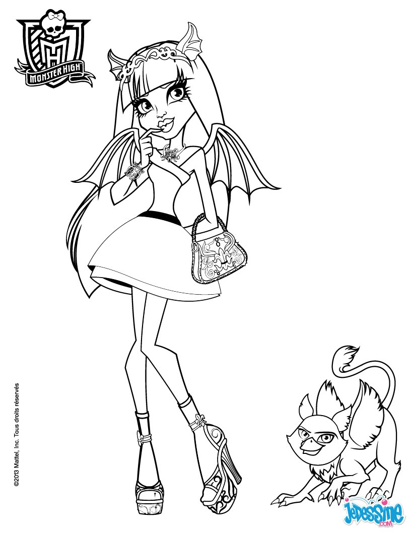 Coloriages rochelle goyle et roux - Dessins de monster high ...