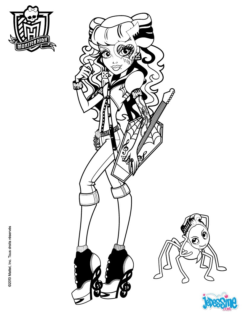 Coloriages operetta et daddy o longlegs for Operetta monster high coloring pages