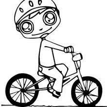 Coloriage velo coloriage de cycliste sur route - Coloriage de cycliste ...