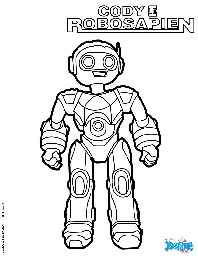 Coloriages le robot cody - Coloriage de robot ...