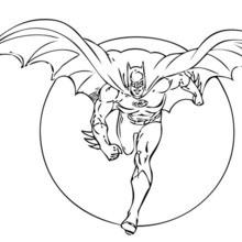 Coloriage : Batman devant la lune