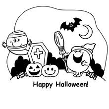 Coloriage : Happy Halloween