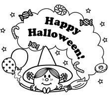 Coloriage : Joyeux Halloween
