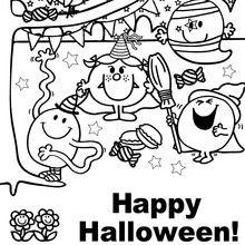 Coloriage : Joyeux halloween à tous