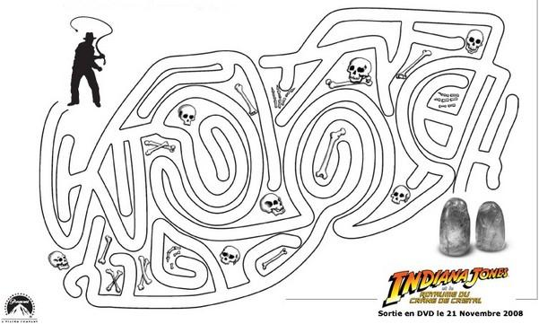 Jeux de labyrinthe indiana jones n 2 - Coloriage indiana jones ...