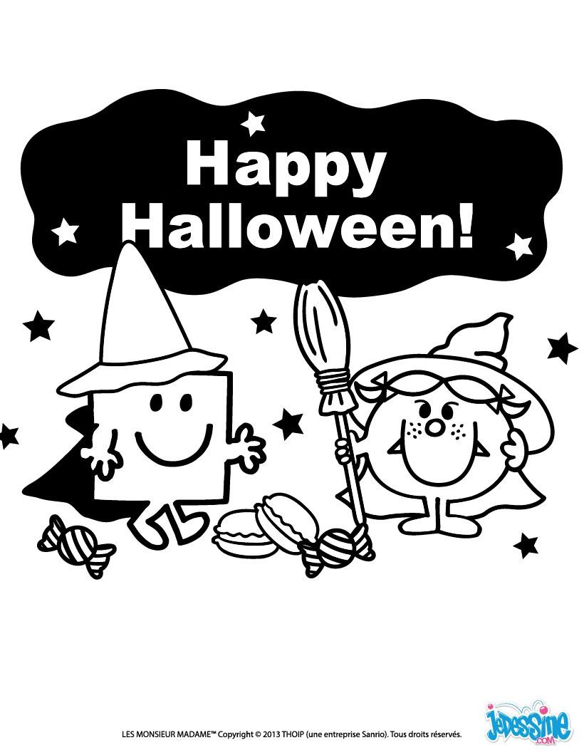 Bien-aimé Coloriages happy halloween à imprimer - fr.hellokids.com SU53
