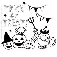Coloriage : Trick or Treat