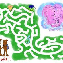 Pars à la recherche du trésor dans le labyrinthe!