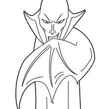 Coloriage d'Halloween : Vampire mystérieux