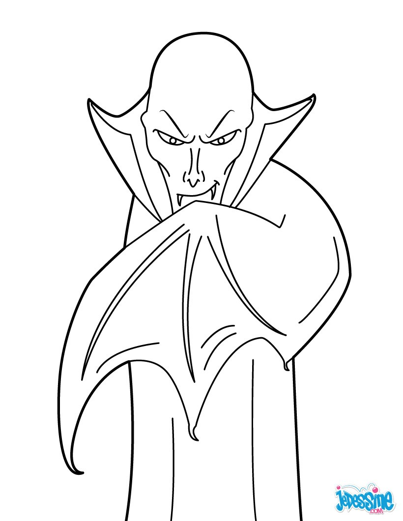 Coloriages vampire myst rieux - Coloriage vampire ...