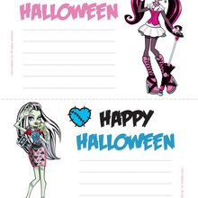 Carte d'invitation Halloween Monster High