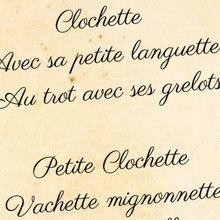 Poésie : Clochette