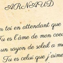 Déclaration pour Arnaud