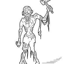 Zombie à la hache