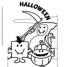 Coloriage : Effrayant Halloween