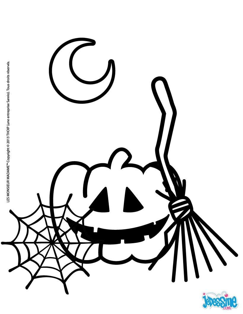 coloriages symboles de halloween fr hellokids com