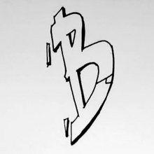 La lettre B style graffiti