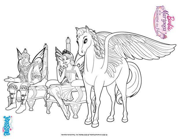 Coloriages sylvie le roi et la princesse de shimmervale - Barbie princesse coloriage ...