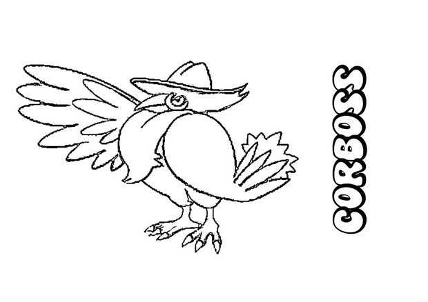 Coloriages corboss - Coloriage pokemon en ligne ...