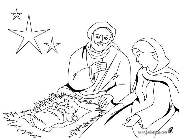 Coloriages coloriage de la naissance du christ - Naissance dessin ...