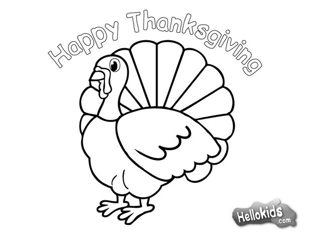 Coloriages Dinde De Thanksgiving