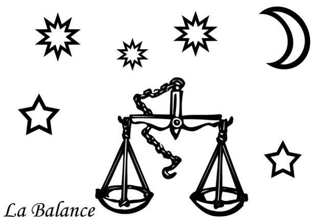 Coloriages coloriage du signe de la balance - Dessin de balance ...