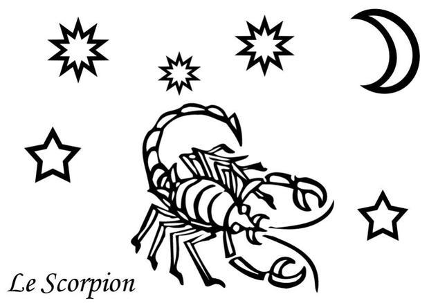 coloriages coloriage du signe du scorpion. Black Bedroom Furniture Sets. Home Design Ideas