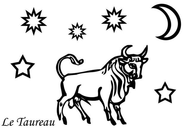 Coloriages coloriage du signe du taureau - Dessin de balance ...