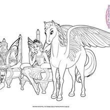 Coloriage Barbie : Sylvie, le Roi et la Princesse de Shimmervale