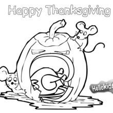 Coloriage : Citrouille pour Thanksgiving