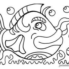 Coloriage d'un gros poisson