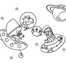 Coloriage de vaisseaux de l'espace