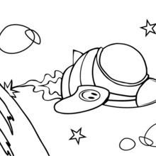 Coloriage bob l 39 eponge sandy dans sa soucoupe volante - Dessiner une fusee ...