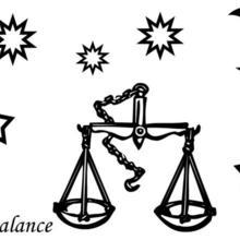 Coloriage du signe de la Balance