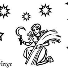 Coloriage du signe de la Vierge