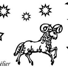 Coloriage du signe du Bélier