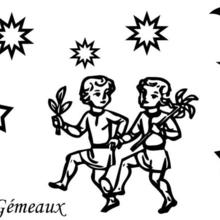 Coloriage du signe du Gémeaux