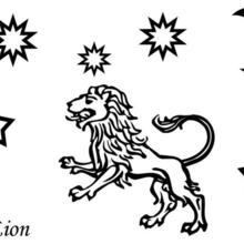 Coloriage du signe du Lion