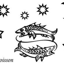 Coloriage du signe du Poisson