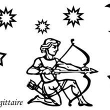 Coloriage du signe du Sagittaire