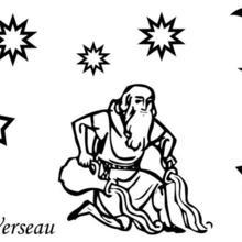 Coloriage du signe du Verseau