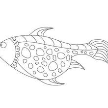 Coloriage : Gros poisson d'avril à colorier