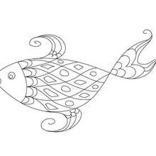 Grand poisson coloriage à imprimer