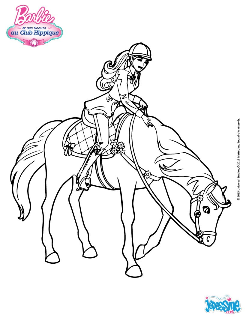 dessin cheval barbie